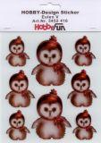HobbyFun Eulen V Hobby-Design Sticker