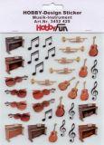 HobbyFun Musik-Instrumente Hobby-Design Sticker