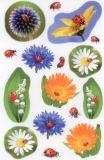 Z-Design Blumen + Marienkäfer Sticker