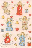 Herma Engel + Herzen mit Glimmer Sticker