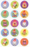 Z-Design Zwerge mit Glitzer Sticker