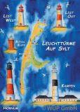 WUP Leuchttürme auf Sylt Postkarte