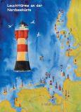WUP Leuchttürme an der Nordsee Postkarte