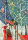 GRÄTZ Weihnachtsmann im Eulenwald Weihnachten Postkarte
