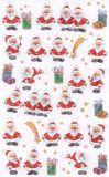 BSB Viele kleine Weihnachtsmänner Sticker