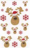 BSB Goldenes Rentier Weihnachten Sticker