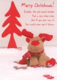 GWBI Merry Christmas - Rudolph Reindeer Postkarte