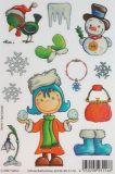 SAFURI Schneeballschöne Glitzer Sticker
