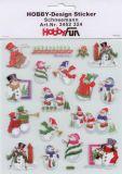 HobbyFun Schneemänner Hobby-Design Sticker
