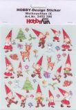 HobbyFun Weihnachtswichtel Hobby-Design Sticker