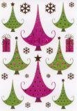 Herma Weihnachtsbäume mit Goldprägung Sticker
