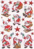 Herma Lustige Weihnachtsmänner Sticker