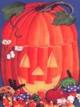 RIA & RO Carved Pumpkin Briefpapier US Format