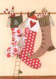 GRÄTZ Drei Weihnachtsstrümpfe - Silke Leffler Postkarte