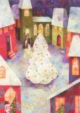 GRÄTZ Weihnachtliche Stadt Postkarte
