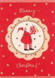 GRÄTZ Merry Christmas - Weihnachtsmann m. Geschenk Postkarte