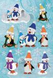 KARIN JITTENMEIER Pinguine 3D Sticker