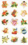 Z-Design Weihnachtsymbole auf Sternen mit Glitzer Sticker