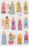 Z-Design Adventskalender Zahlen auf Kerzen Sticker
