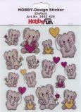HobbyFun Elefanten Hobby-Design Sticker
