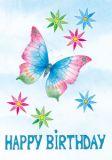 FLORIS Happy Birthday Schmetterling Klappkarte m. Umschlag