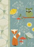 WENDEKREIS Fox & Owl Glitzer Postkarte