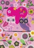 ROGER LA BORDE Love Owls Glitzer Postkarte