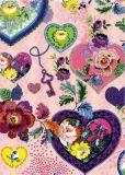 ROGER LA BORDE Floral Hearts Glitzer Postkarte