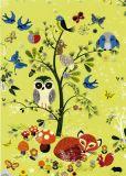 ROGER LA BORDE Woodland Tree Glitzer Postkarte