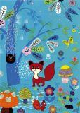ROGER LA BORDE Foxy Forest Glitzer Postkarte