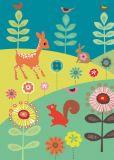 ROGER LA BORDE Springtime Meadow Glitzer Postkarte