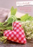 GWBI Freundschaft - Karoherz - Lebenskunst Postkarte