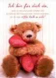 GWBI Ich bin für dich da - Teddy - Classic Line Postkarte