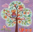 GOLLONG Eulen im Baum - Mila Marquis Postkarte