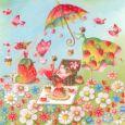 GOLLONG Frauen beim Picknick - Nina Chen Postkarte