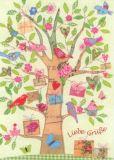 GOLLONG Liebe Grüße - Baum - Carola Pabst Postkarte