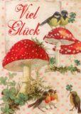 GOLLONG Viel Glück - Glückspilze - Carola Pabst Postkarte