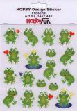 HobbyFun Frösche Hobby-Design Sticker