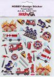 HobbyFun Feuerwehr Hobby-Design Sticker