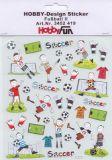 HobbyFun Fußball II Hobby-Design Sticker