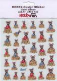 HobbyFun Geld-Mäuse Hobby-Design Sticker