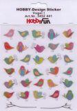 HobbyFun Vögel I Hobby-Design Sticker