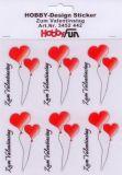 HobbyFun Zum Valentinstag Hobby-Design Sticker