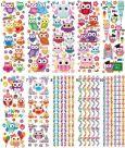 KARIN JITTENMEIER Eulen 10 Transparent Stickerbögen
