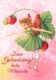GOLLONG Zum Geburtstag - Elfe mit Erdbeeren - Nina Chen Postkart