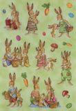 Herma Hasenfamilien mit Glimmer Sticker