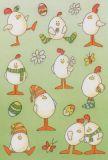 Herma Lustige Ostereier mit Glimmer Sticker