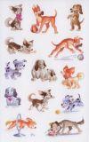 Z-Design Lustige Hündchen Sticker