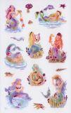 Z-Design Meerjungfrauen mit Pinkprägung Sticker