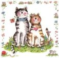 GOLLONG Katzenpaar - Carola Pabst Postkarte